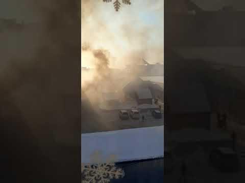 На крупнейшем рынке Камчатки пожар