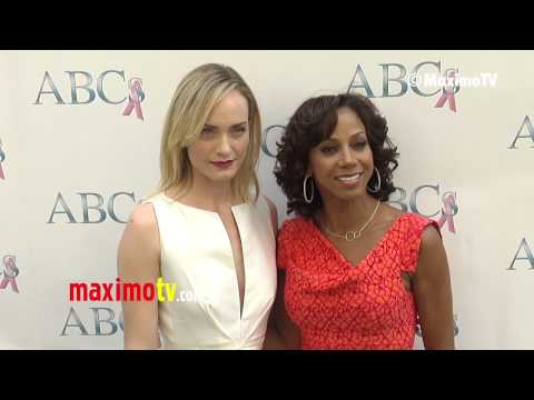Amber Valletta & Holly Robinson Peete ABCs Mother's Day Luncheon 2013 @ambervalletta @hollypeete