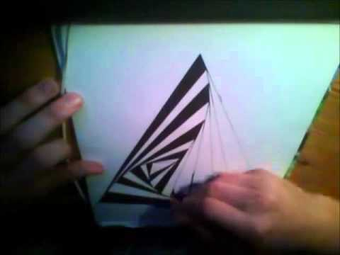 how to draw optical illusion 01 twisting pyramide youtube. Black Bedroom Furniture Sets. Home Design Ideas