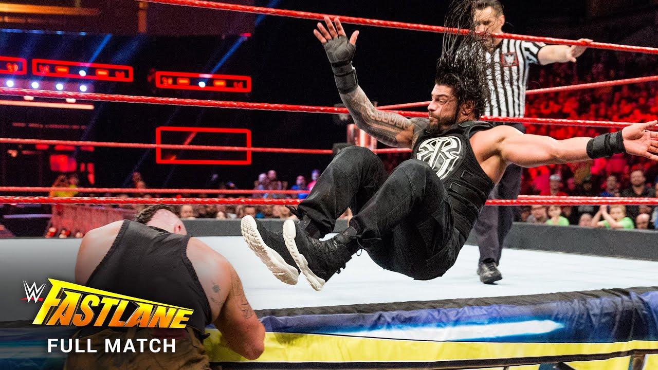 Download FULL MATCH - Roman Reigns vs. Braun Strowman: WWE Fastlane 2017