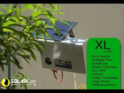 SolarCam XL light autoboot, Webcam Autonome 3G 4G Solaire Timelapse