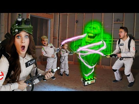 Ghostbusters Family In Real Life EXPLORE HAUNTED CONSTRUCTION SITE!
