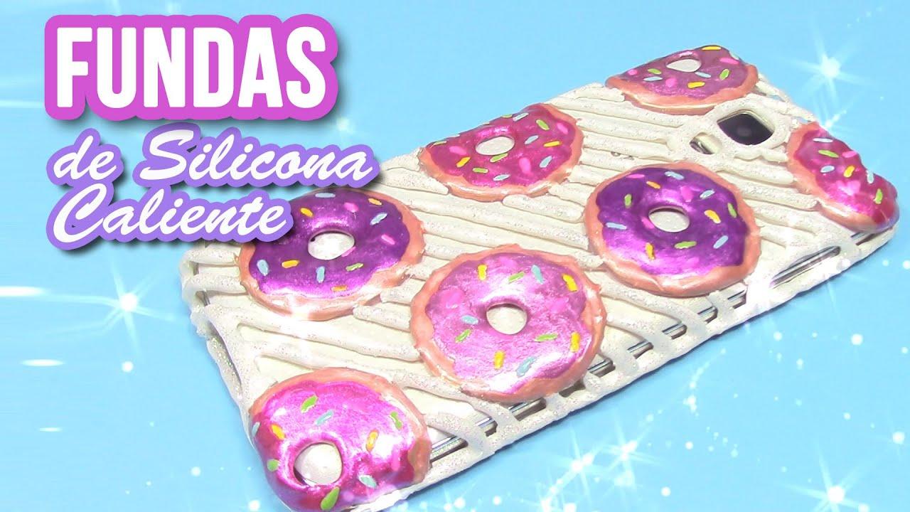 Manualidades fundas de silicona caliente donuts o donas - Como hacer fundas de silicon ...