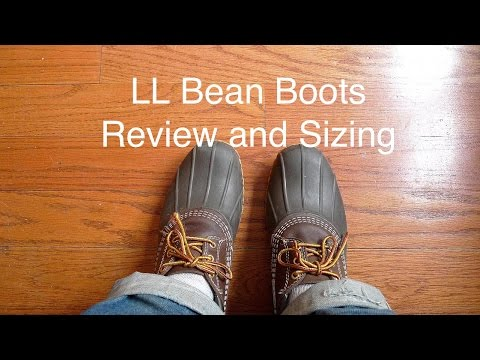 d22da570786a6 LL Bean Bean Boots Review and Sizing - YouTube