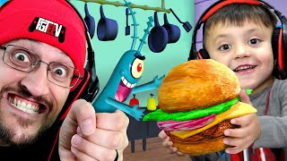 STOP PLANKTON from Stealing KRABBY PATTY Formula! (FGTeeV Weird Spongebob Dreams #3)