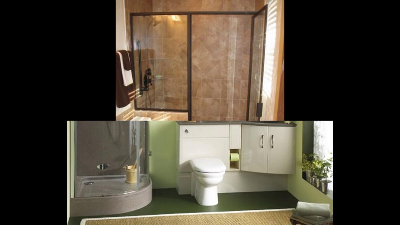 Ideas de diseño de baños para cuartos de baño pequeños - YouTube