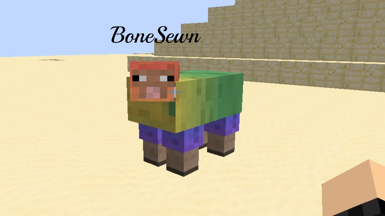 how to make a rainbow sheep in minecraft ps4
