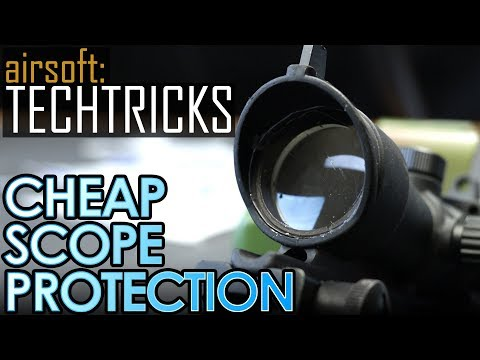 Airsoft: Cheap DIY Scope Protection! (Tech Tips)