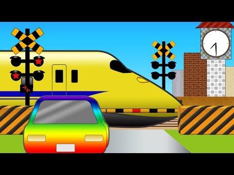 【いろんなでんしゃ】ふみきりの1しゅうかんOne week of railroad crossing #踏切アニメ