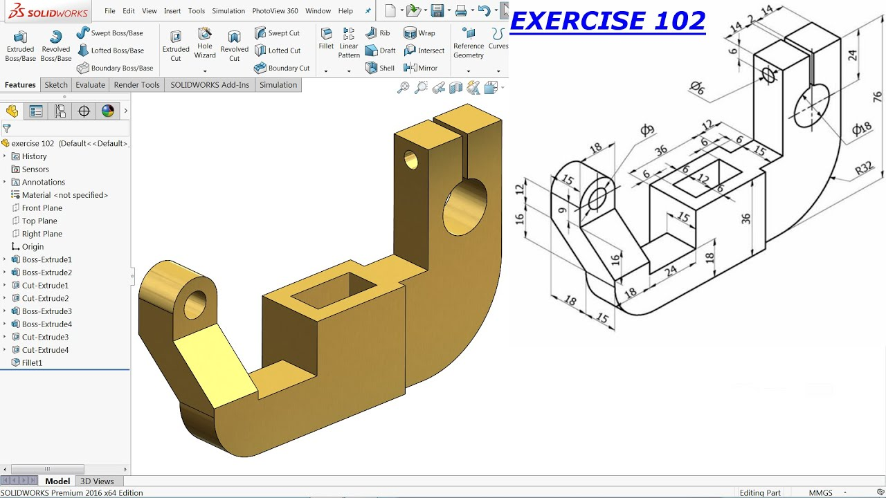Autodesk Inventor Tutorial For Beginners Exercise 3