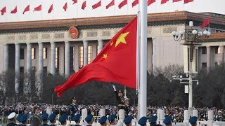 Chinese PLA takes on the first flag-raising ceremony in 2018