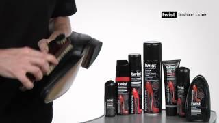 Уход за обувью из гладкой кожи с помощью щеток Твист