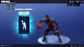 "STREAMERS REACT to NEW ""BALLER"" EMOTE/DANCE! - FORTNITE ITEM SHOP JUNE 2ND!"