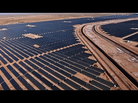 India World's Largest Solar Power Plant Construction - Full