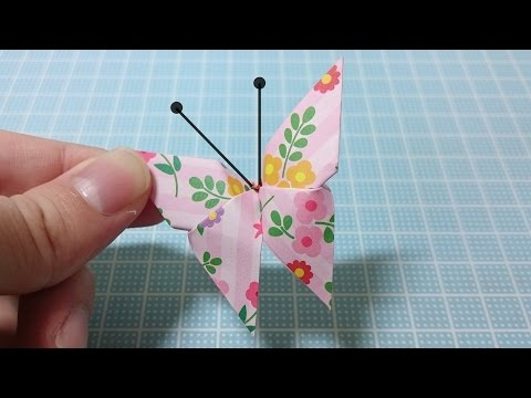 簡単 折り紙:折り紙 蝶 折り方-youtube.com