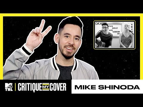 Mike Shinoda Reacts To A Cover Of His Song 'Crossing A Line' 🎶 | Critique My Cover | TRL