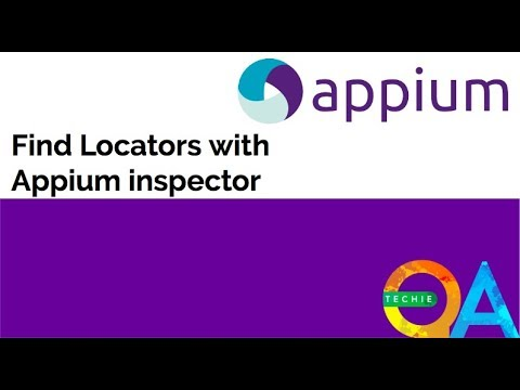 How to find locators using Appium inspector