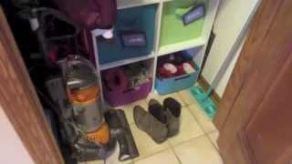 Coat Closet Organization! Kids' Shoes & Winter Accessories