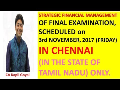 SFM Paper Postponed In Chennai ( (IN THE STATE OF TAMIL NADU ONLY)  due to Heavy Rain