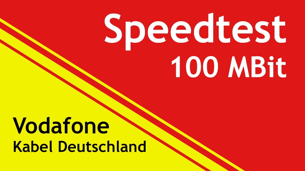 vodafone kabel deutschland 100 mbit speedtest youtube. Black Bedroom Furniture Sets. Home Design Ideas