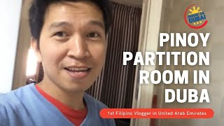 PINOY PARTITION ROOM IN DUBAI (vlog)
