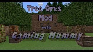 Minecraft | Tree Ores Mod | Grow Diamond Emerald Glowstone Redstone Iron Quartz Obsidion etc Trees !