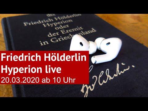 Friedrich Hölderlin: Hyperion - Live und ungekürzt gelesen von Wolfgang Tischer