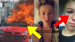 10 Youtubers Who ALMOST DIED!! (Tanner Fox Car Crash, Roman Atwood, Comedy Shorts Gamer & More)