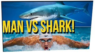 WEEKEND SCRAMBLE - Michael Phelps Planning to Race Great White Shark! ft. DavidSoComedy