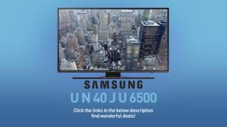 SAMSUNG UN40JU6500 ( JU6500 ) 4K UHD Smart TV // FULL SPECS REVIEW #SamsungTV