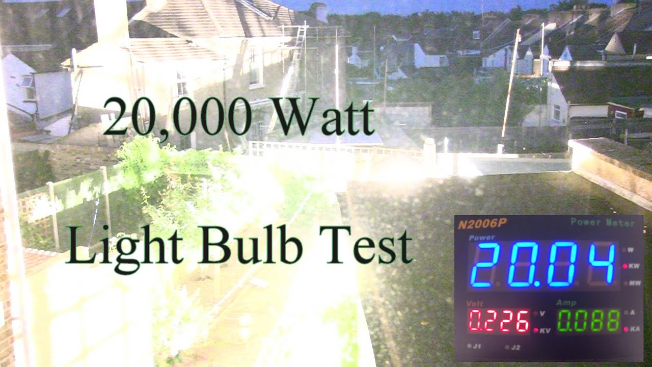 20000 Watt Light Bulb Test Youtube 5000w Ultra High Power Amplifier Without Switching Mode Supply Premium