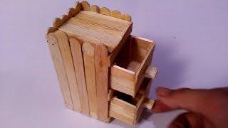Cara Membuat Rak Mini Dari Stik Es Krim