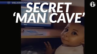 Toddler's secret 'man cave' - equipped with snacks and entertainment - is so relatable