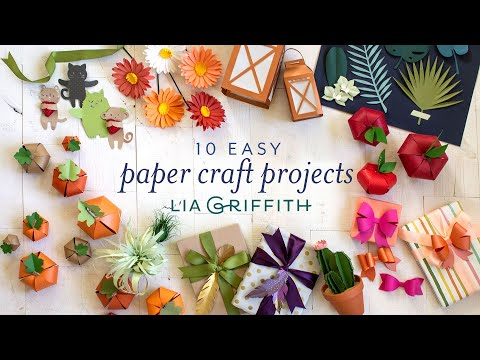 10 Easy Paper Craft Projects