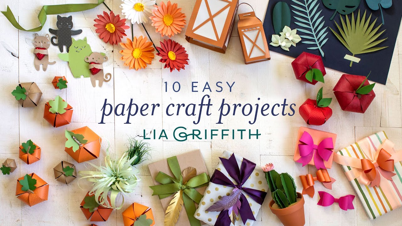 Video Tutorial: 10 Easy Paper Craft Projects