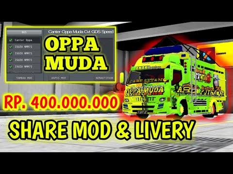 CARA DOWNLOAD MOD BUSSID TRUCK CANTER OPPA MUDA & LIVERY! SANGAT MUDAH SEKALI - NABAGUS GAMING