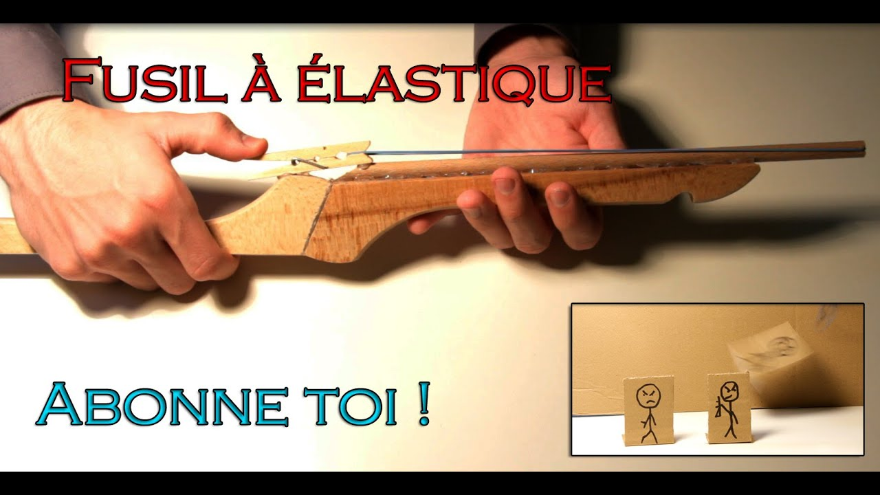 Comment faire un fusil lastiques elastic rifle youtube - Arme en papier ...