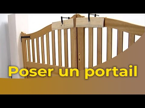 la pose d 39 un portail youtube. Black Bedroom Furniture Sets. Home Design Ideas
