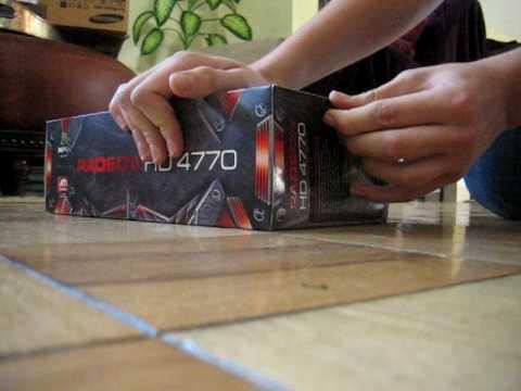 XFX Radeon HD 4770 Unboxing