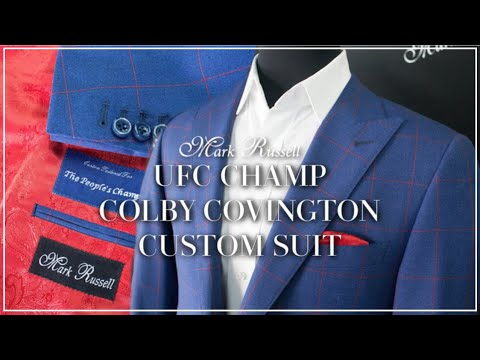 Ufc Champ Colby Covington Custom Suit Mark Russell Clothing Youtube