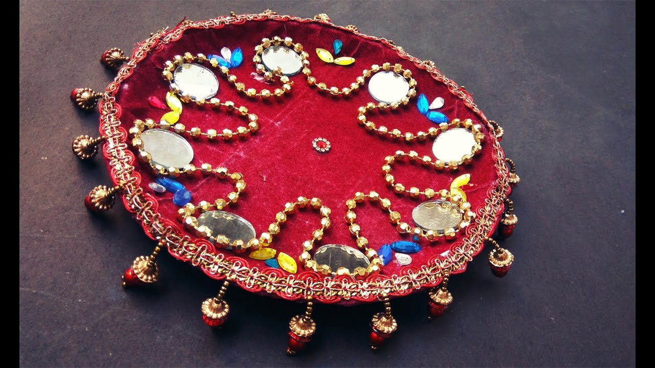 Mehndi Thaal Decoration Ideas I : Diy how to make decorated thali handmade puja