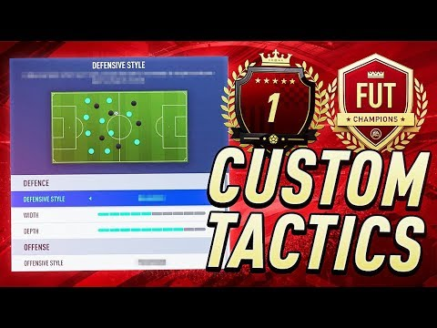 MY #1 CUSTOM TACTICS, FORMATIONS AND SETTINGS IN ULTIMATE TEAM | FIFA 19 thumbnail