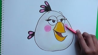 Cómo Dibujar a Matilda Pajaro Blanco (Angry Birds) - How to Draw Matilda White Bird