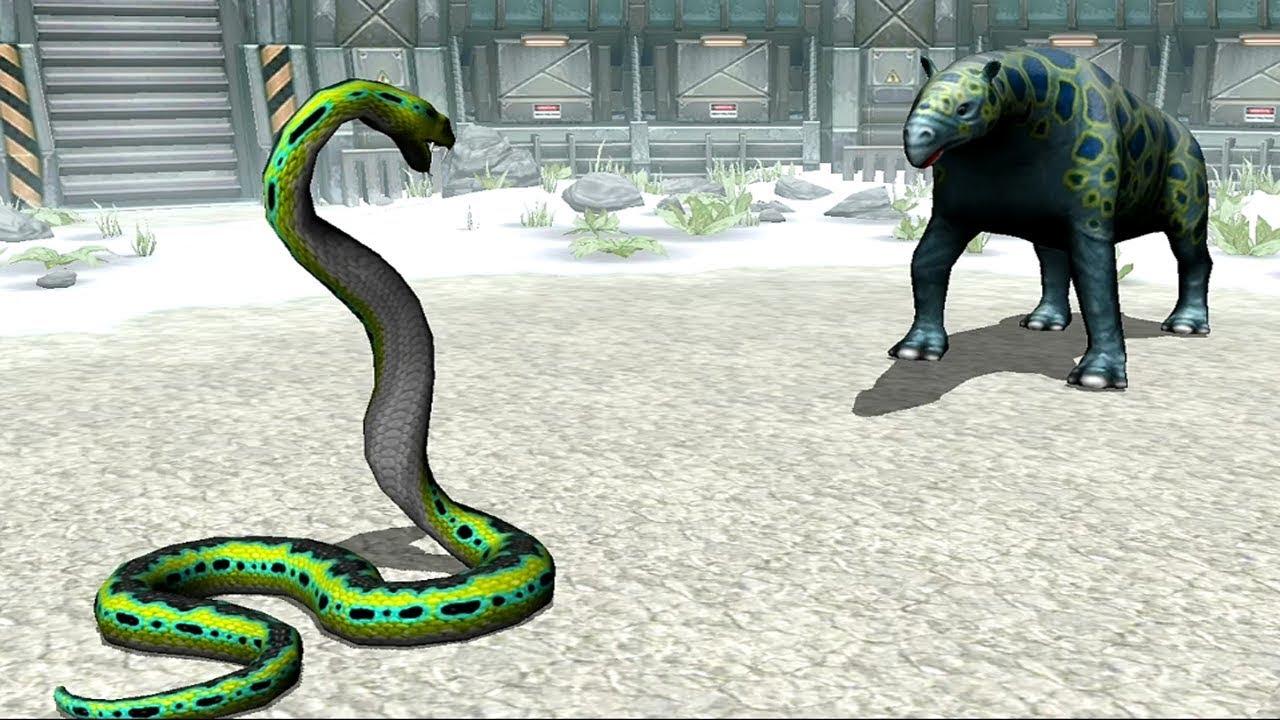 Titanoboa VS Indricotherium ||| Jurassic Park Builder ...