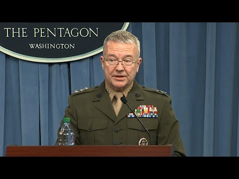US Defense Dept briefing on Syria strikes