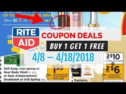 Rite Aid Coupon Deals April 8 - 14, 2018...