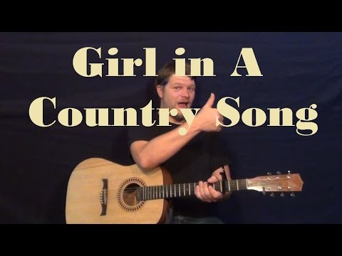 Girl In A Country Song (Maddie & Tae) Easy Guitar Lesson How to Play Tutorial