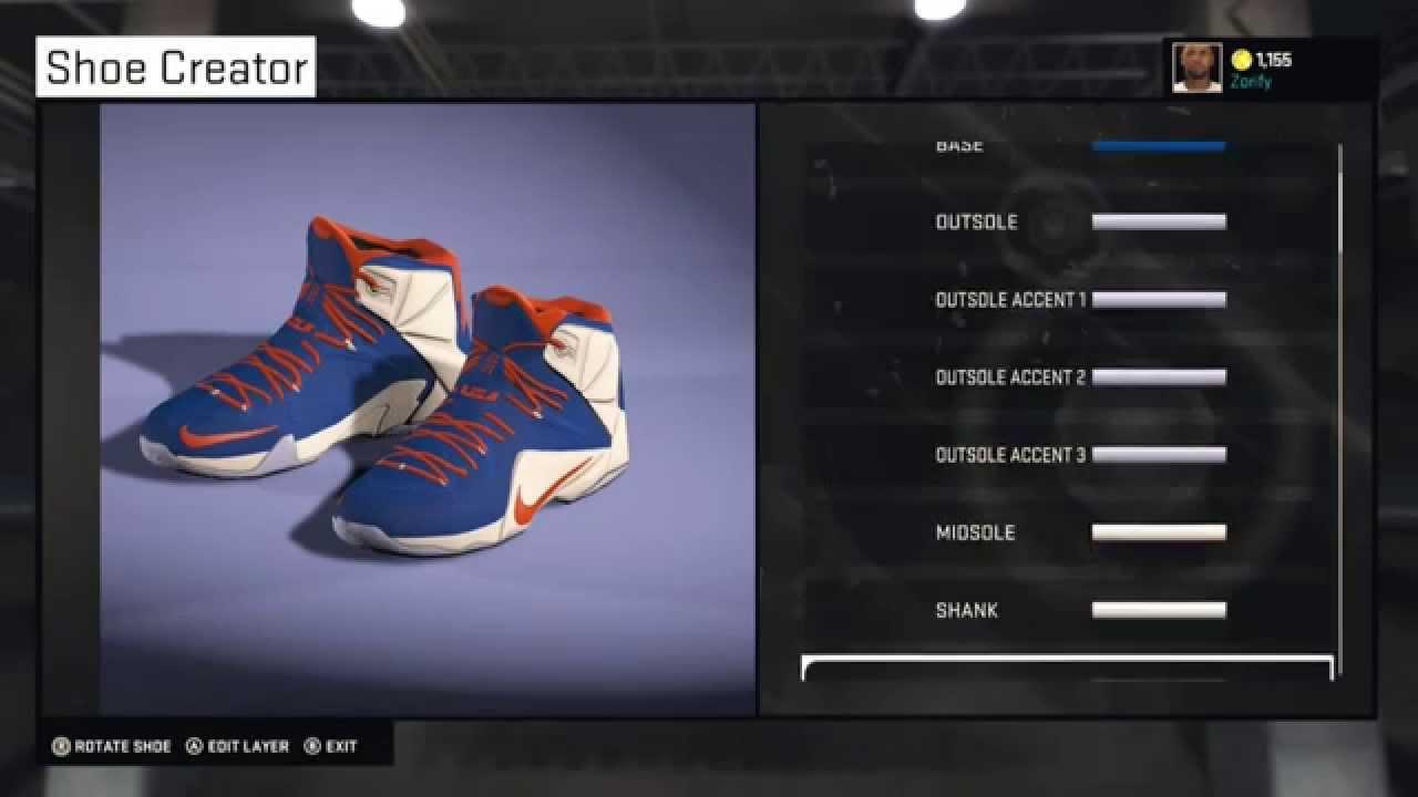 59b6a6f6a523 NBA 2K15 Shoe Creator - Nike LeBron 12 Custom