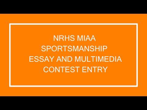NRHS MIAA Sportsmanship Contest Entry
