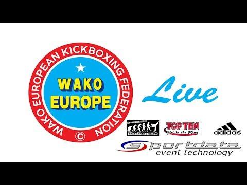 Tatami 1,2,5,6 Day 2 WAKO European Championships 2017, Skopje